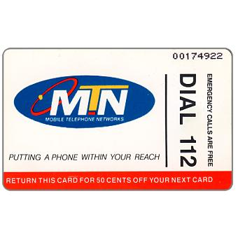 Phonecard for sale: MTN - Dial 112, R10
