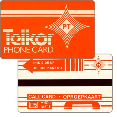 Phonecard for sale: Telkor - Test card, PT logo, R5