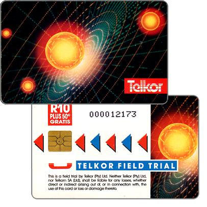 Phonecard for sale: Telkor - Field Trial, Solar System, CN: 0 + 8 digits, R10