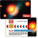 The Phonecard Shop: South Africa, Telkor - Field Trial, Solar System, CN: 1- + 9 digits, R10
