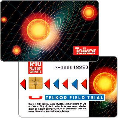 Phonecard for sale: Telkor - Field Trial, Solar System, CN: 3- + 9 digits, R10