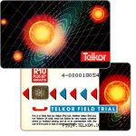 The Phonecard Shop: Telkor - Field Trial, Solar System, CN: 4- + 9 digits, R10