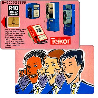 Phonecard for sale: Telkor - Trial card, Pink Faces, R10