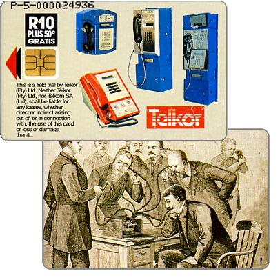 Phonecard for sale: Telkor - Trial card, T.A. Edison, R10
