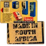 The Phonecard Shop: South Africa, Telkor - Trial card, Made in South Africa, R10