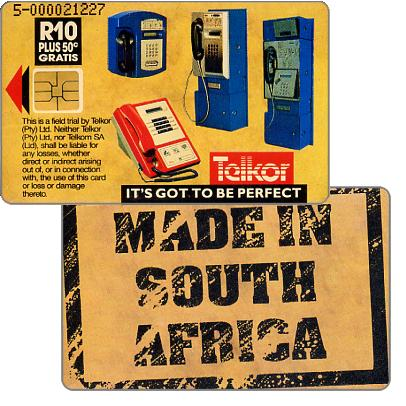 Phonecard for sale: Telkor - Trial card, Made in South Africa, R10