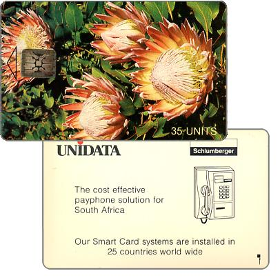 Phonecard for sale: Unidata - Test card, Proteas, 35 units