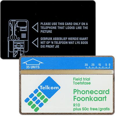 Phonecard for sale: Telkom - Field trial Telumat, R10/35 units