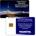 The Phonecard Shop: South Africa, Transtel - Trial card, complimentary, R12-60