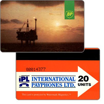 Phonecard for sale: British Petroleum, 20 units