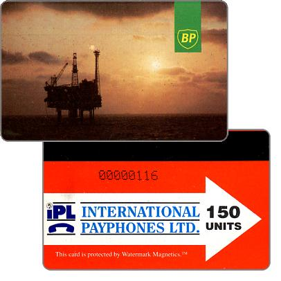 Phonecard for sale: British Petroleum, 150 units
