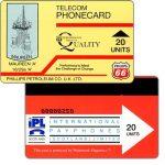 The Phonecard Shop: Great Britain, Phillips Petroleum Co. U.K. LTD., Maureen 'A', 20 units