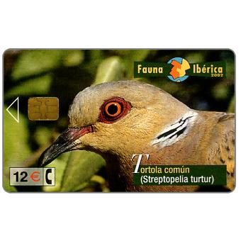Phonecard for sale: Fauna Iberica, Tortola comun (Streptopelia turtur), 12 €