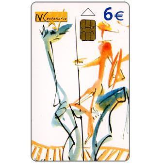 Phonecard for sale: IV Centenario Cervantes, 6€