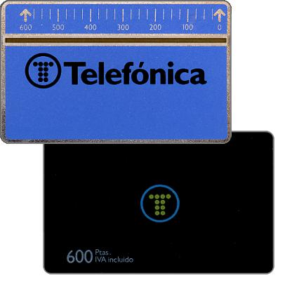Phonecard for sale: Definitive, 1.5mm optical band, 602A, 600 pta