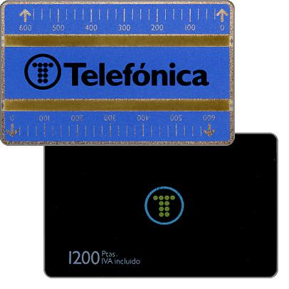 Phonecard for sale: Definitive, 4mm optical band, 711C, 1200 pta