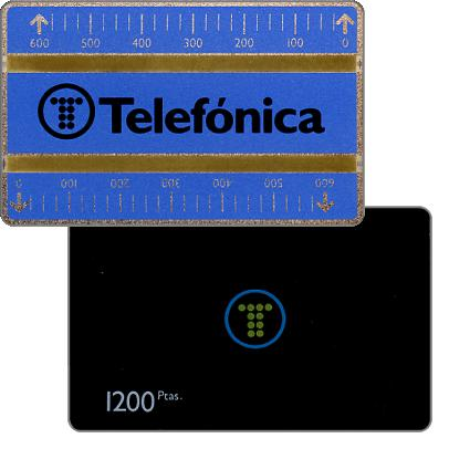 Phonecard for sale: Definitive, 4mm optical band, 711D, 1200 pta