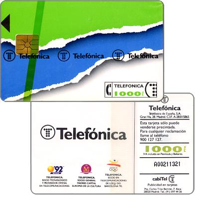 Phonecard for sale: Definitive, 1000 pta