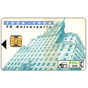 Phonecard for sale: 70th anniversary of Telefonica, 900+100 pta