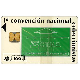 Phonecard for sale: 1st convention of phonecards collectors, 100 pta