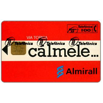 The Phonecard Shop: Calmele Almirall, 100 pta