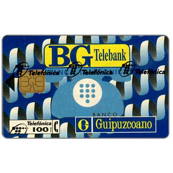 Phonecard for sale: BG Telebank, 100 pta