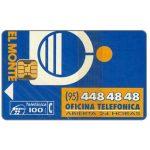The Phonecard Shop: Spain, Oficina Telefonica El Monte, 12/94, 100 pta