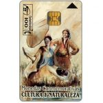 The Phonecard Shop: Cultura y Naturaleza, silver and gold coins on back, 100 pta