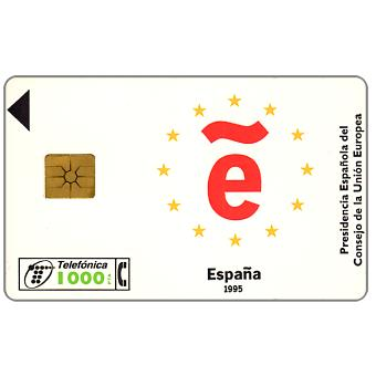 Phonecard for sale: CEE Presidency, 1000 pta