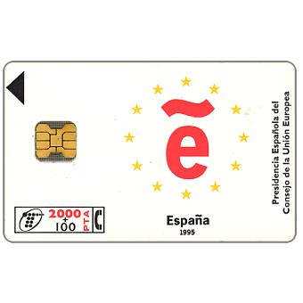 Phonecard for sale: CEE Presidency, 2000+100 pta