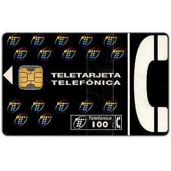 Phonecard for sale: Definitive, complimentary 100 pta
