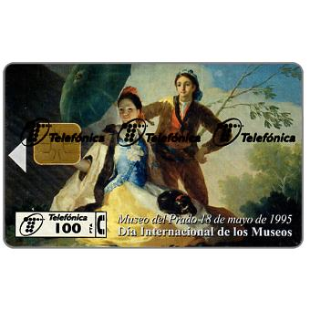 Phonecard for sale: Mueo del Prado, El Quitasol, painting by Goya, 100 pta