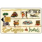 The Phonecard Shop: Cartagena de Indias, 100 pta