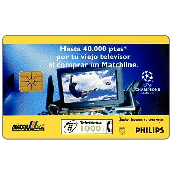 Phonecard for sale: Philips - UEFA Champions League, 1000 pta