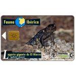 The Phonecard Shop: Spain, Fauna Iberica, Lagarto gigante de El Hierro (Gallotia simonyi), 1000 pta