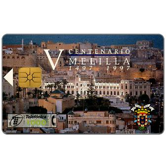 Phonecard for sale: 500 years of Melilla, 1000 pta
