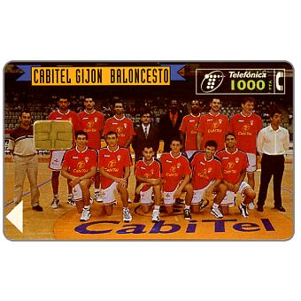 Phonecard for sale: Gijon Basketball Team, 1000 pta
