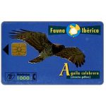 The Phonecard Shop: Spain, Fauna Iberica, Aguila culebrera (Circaetus gallicus), 1000 pta