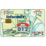 Phonecard for sale: Informa't, 2000+100 pta