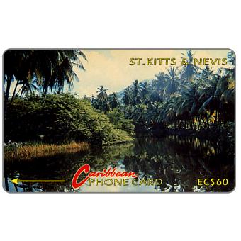Phonecard for sale: River scene, 5CSKC, EC$60