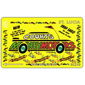 Phonecard for sale: Courts Money Motors, 23CSLA, EC$10