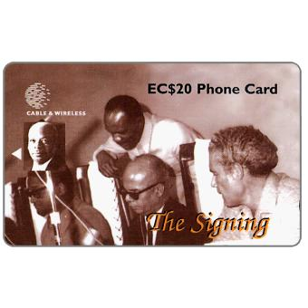 Phonecard for sale: The Signing, 254CSLB, EC$20