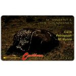 The Phonecard Shop: Carib Petroglyph - Mt Wynne, no logo, 3CSVB, EC$20