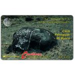 Phonecard for sale: Carib Petroglyph - Mt Wynne, large logo, 5CSVB, EC$20
