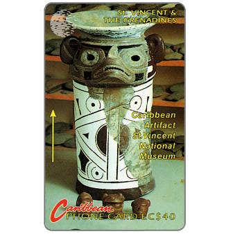 Carib artifact, large logo, 5CSVC, EC$20