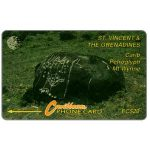 The Phonecard Shop: Carib Petroglyph - Mt Wynne, small logo, 8CSVC, EC$20