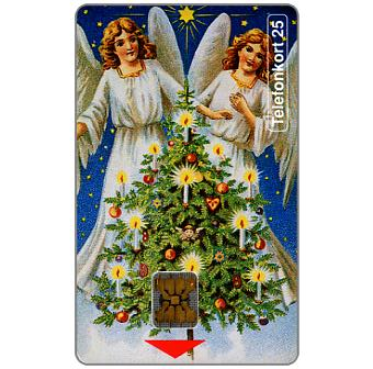 Phonecard for sale: Telia -  Merry Christmas, Angels, 25 units