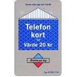 The Phonecard Shop: Grey/blue card, 20 kr