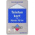 The Phonecard Shop: Sweden, Grey/blue card, 50 kr