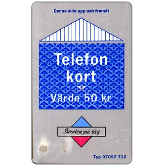 Phonecard for sale: Grey/blue card, 50 kr